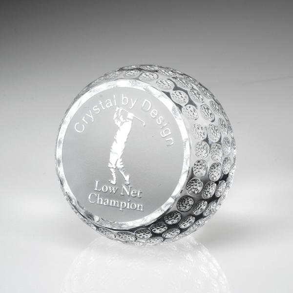 """Award-Standing Golf Ball 2 1/4"""""""