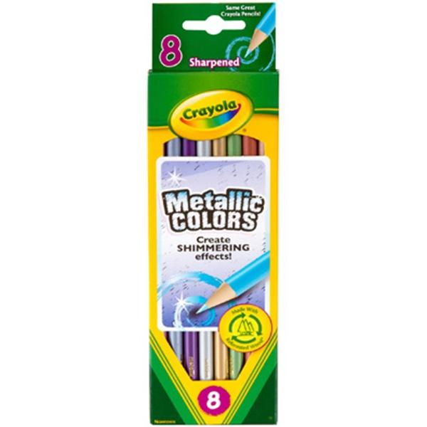 Crayola 8 ct. Metallic FX Colored Pencils