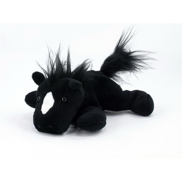 "8"" Black Laying Horse with Sound Chip"