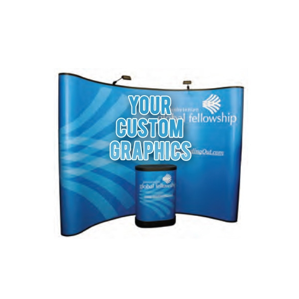 8-Foot Curved  Pop Up Tradeshow Display Booth
