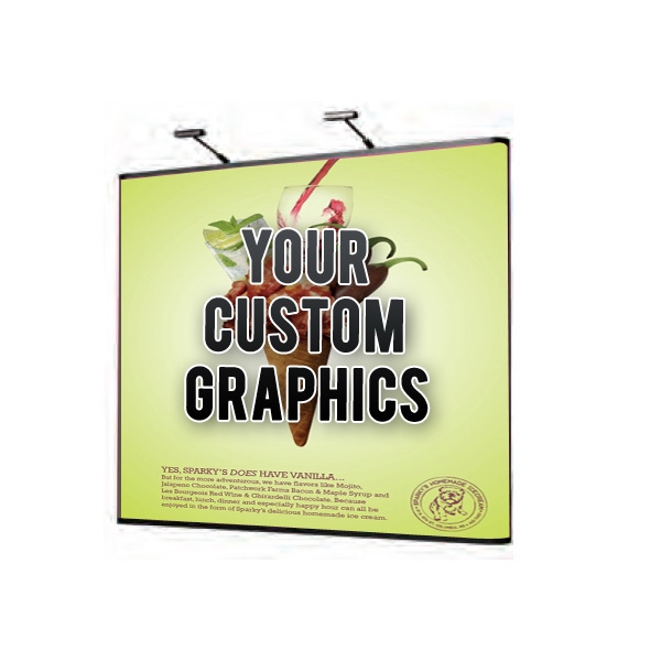 9-Foot Straight Pop Up Tradeshow Display Booth