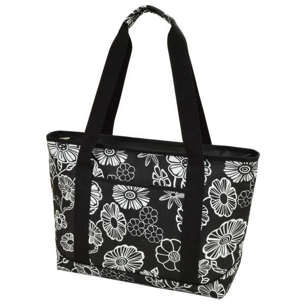 Large Insulated Cooler Tote - Large insulated cooler tote with shoulder strap. Front pocket. 600D Polycanvas.
