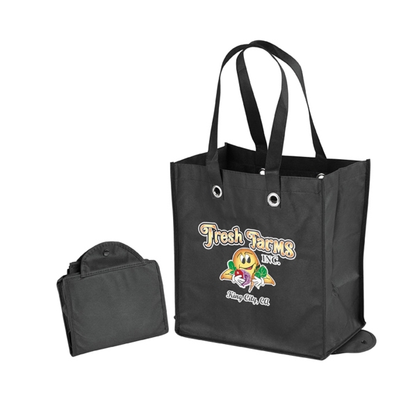 Snap up shopping bag
