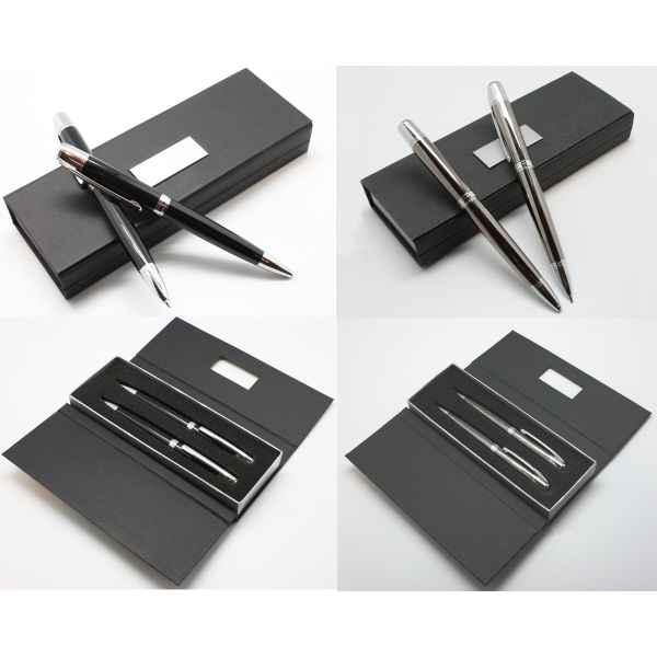 Executive Metal Ballpoint Pen & Pencil Set