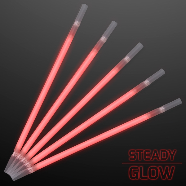 Red Glow Straws for Light Drinks