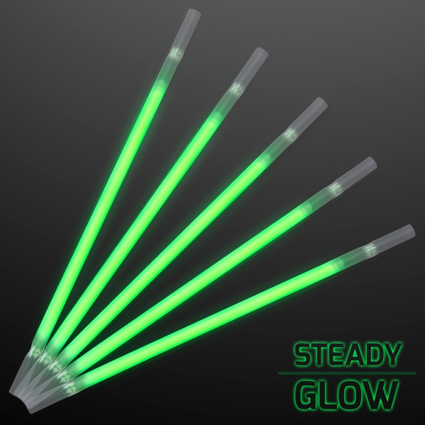 Green Glow Party Straws for Light Drinks