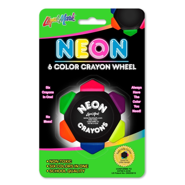 Neon Crayo-Craze Six Color Crayon Wheel