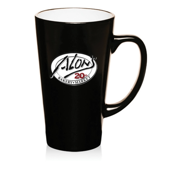 16 oz Two-Tone Cafe Latte Mugs