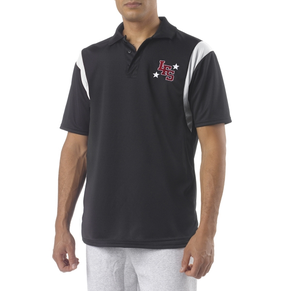 A4 Adult Color Block Polo with Knit Collar