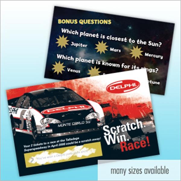Custom Scratch-N-Win Card (Postcard Size)