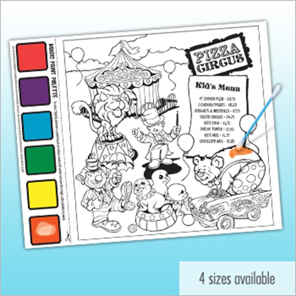 Watercolor Paint Sheet - Small - Kids will love this activity paint sheet, just add water!
