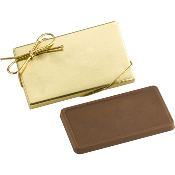 1 oz Chocolate Bar in Gold Gift Box