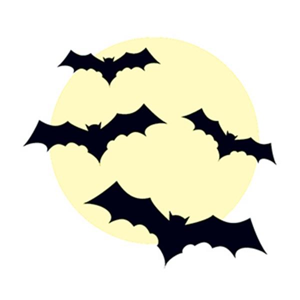 Glow in the Dark Bats Temporary Tattoo - Glow in the Dark Bats Temporary Tattoo