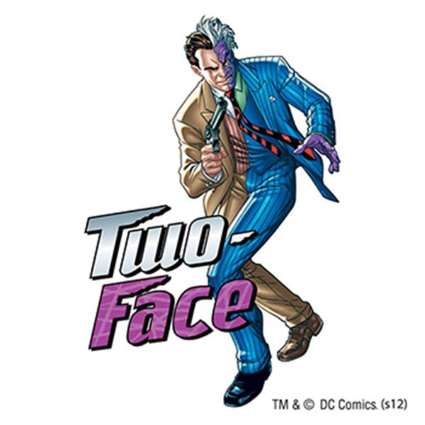 Warner Brothers: Two-Face Temporary Tattoo - Warner Brothers: Two-Face Temporary Tattoo