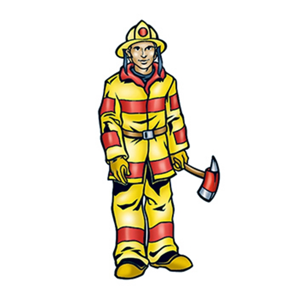 Fireman Temporary Tattoo