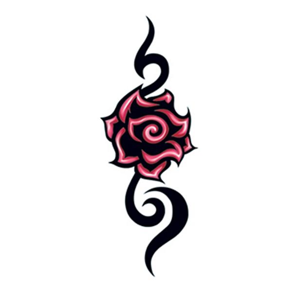 Tribal Modern Rose Temporary Tattoo - Tribal Modern Rose Temporary Tattoo