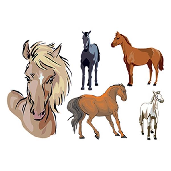 Set of Horses Temporary Tattoos