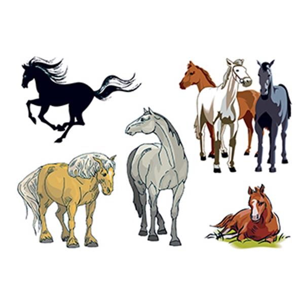 Assorted Horses Temporary Tattoos
