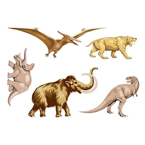 Prehistoric Pals Temporary Tattoo - Prehistoric Pals Temporary Tattoo