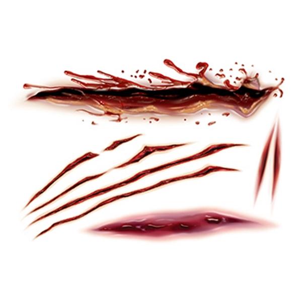 Gory Slashes & Scars Temporary Tattoo - Gory Slashes & Scars Temporary Tattoo