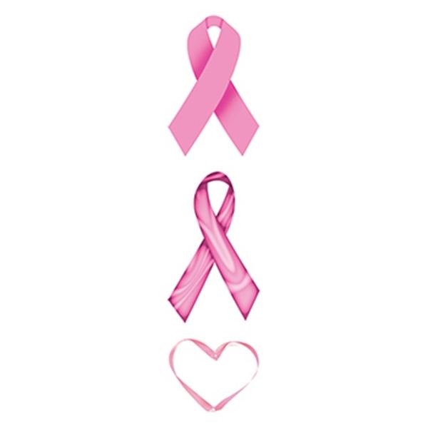 Pink Ribbons Temporary Tattoo Set