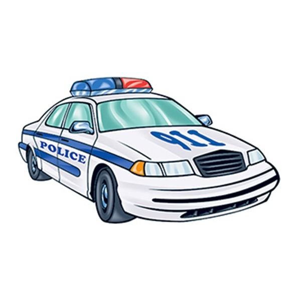 Police Car Temporary Tattoo - Police Car Temporary Tattoo