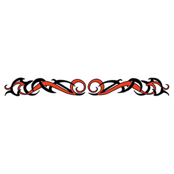 Red & Black Tribal Armband Temporary Tattoo - Red & Black Tribal Armband Temporary Tattoo