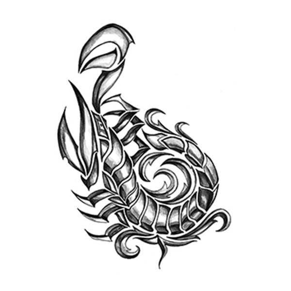 Iron Tribal Scorpion Temporary Tattoo - Iron Tribal Scorpion Temporary Tattoo