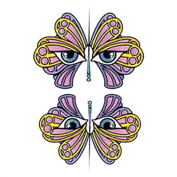 Glitter Butterfly Eyes Temporary Tattoo - Glitter Butterfly Eyes Temporary Tattoo