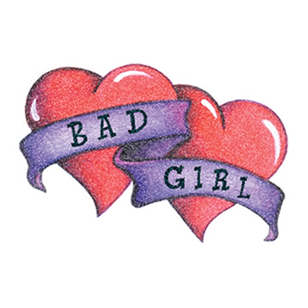 Glitter Bad Girl Hearts Temporary Tattoo - Glitter Bad Girl Hearts Temporary Tattoo