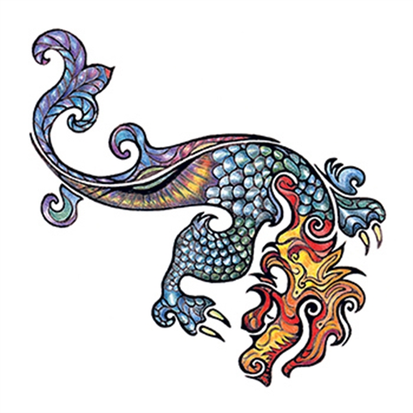Small Dragon Temporary Tattoo - Small Dragon Temporary Tattoo
