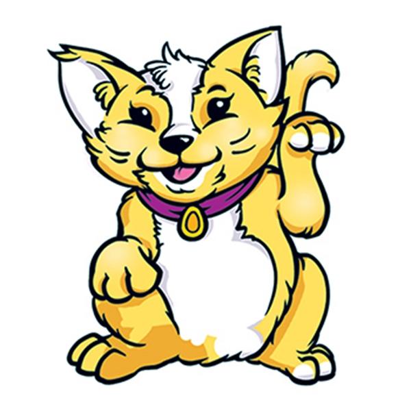 Yellow Cat Temporary Tattoo - Yellow Cat Temporary Tattoo