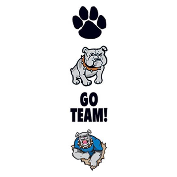 Bulldog Mascot Temporary Tattoo Set - Bulldog Mascot Temporary Tattoo Set