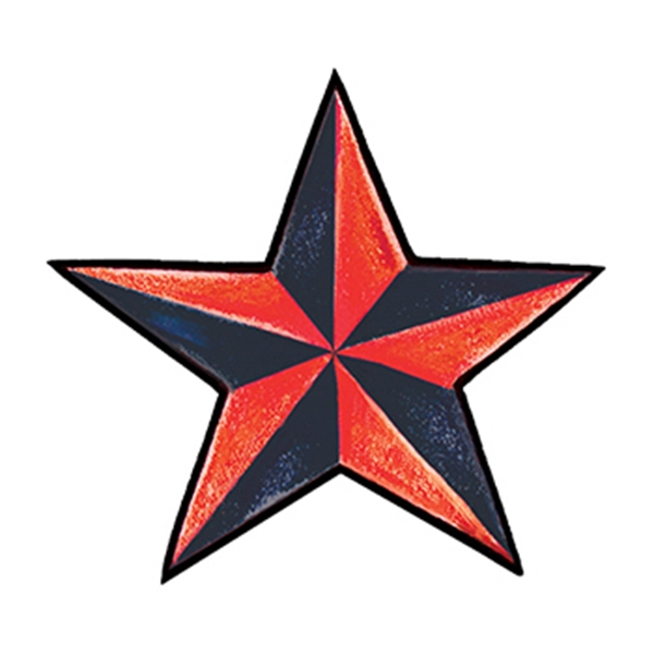 Red Nautical Star Temporary Tattoo - Red Nautical Star Temporary Tattoo