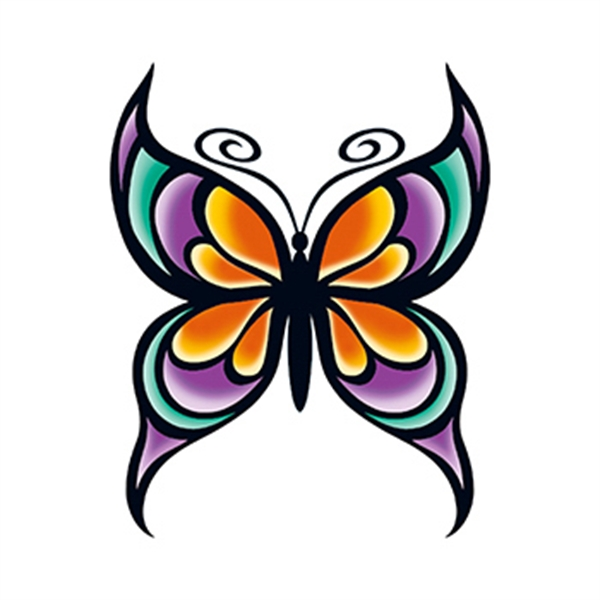 Modern Butterfly Temporary Tattoo - Modern Butterfly Temporary Tattoo