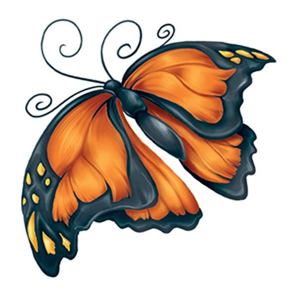 Modern Monarch Temporary Tattoo