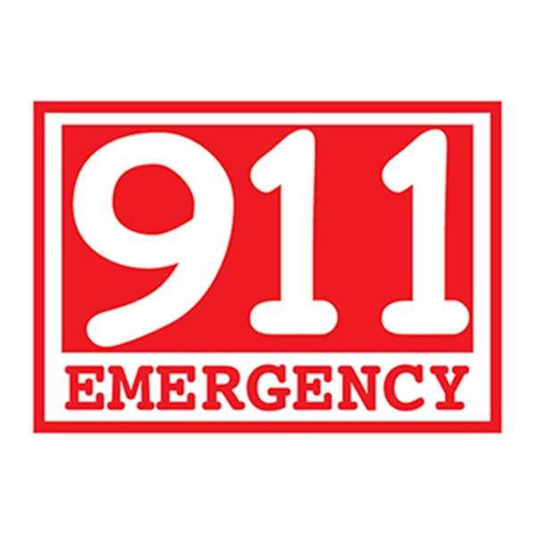 Glow Red Emergency 911 Temporary Tattoo