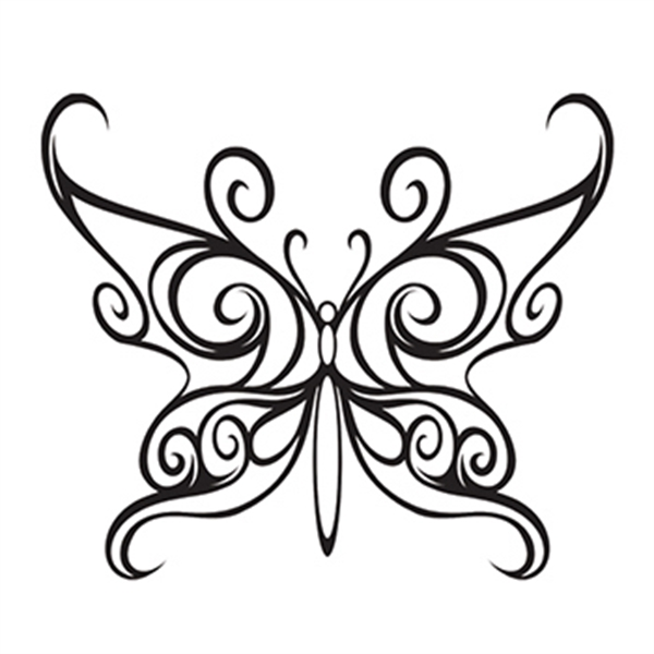 Black Butterfly Temporary Tattoo - Black Butterfly Temporary Tattoo
