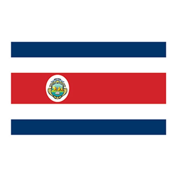 Flag of Costa Rica Temporary Tattoo - Flag of Costa Rica Temporary Tattoo