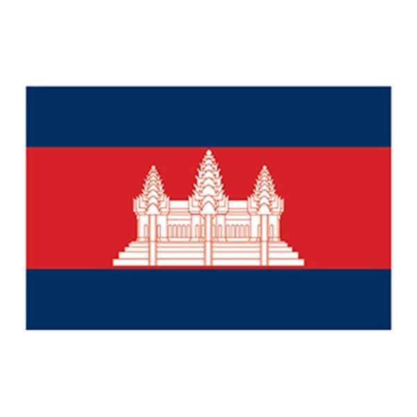 flag of cambodia temporary tattoo