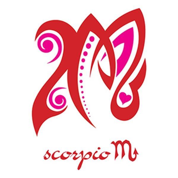Zodiac: Pink Scorpio Temporary Tattoo - Zodiac: Pink Scorpio Temporary Tattoo