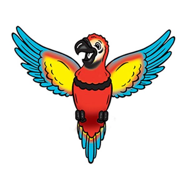 Macaw Temporary Tattoo - Macaw Temporary Tattoo
