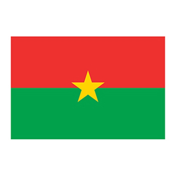 Flag of Burkina Faso Temporary Tattoo - Flag of Burkina Faso Temporary Tattoo