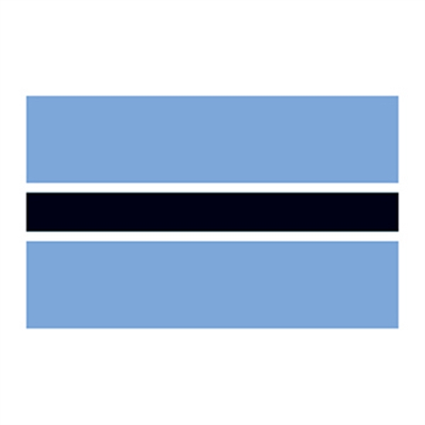 Flag of Botswana Temporary Tattoo - Flag of Botswana Temporary Tattoo