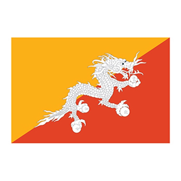 Flag of Bhutan Temporary Tattoo - Flag of Bhutan Temporary Tattoo