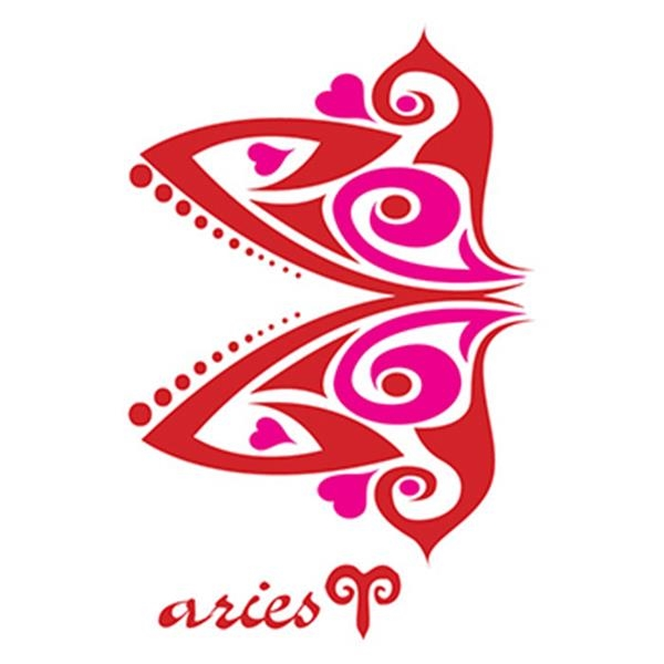 Zodiac: Pink Aries Temporary Tattoo - Zodiac: Pink Aries Temporary Tattoo