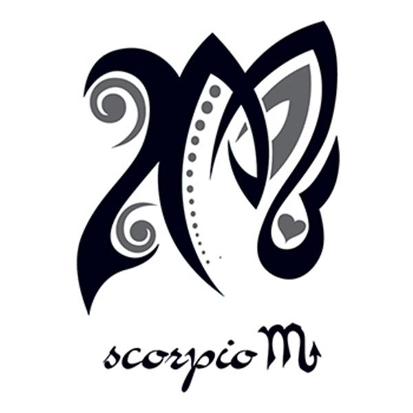 Zodiac: Scorpio Design Temporary Tattoo - Zodiac: Scorpio Design Temporary Tattoo
