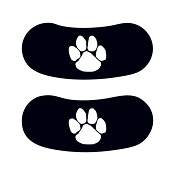 White Paw Eyeblack Temporary Tattoo - White Paw Eyeblack Temporary Tattoo