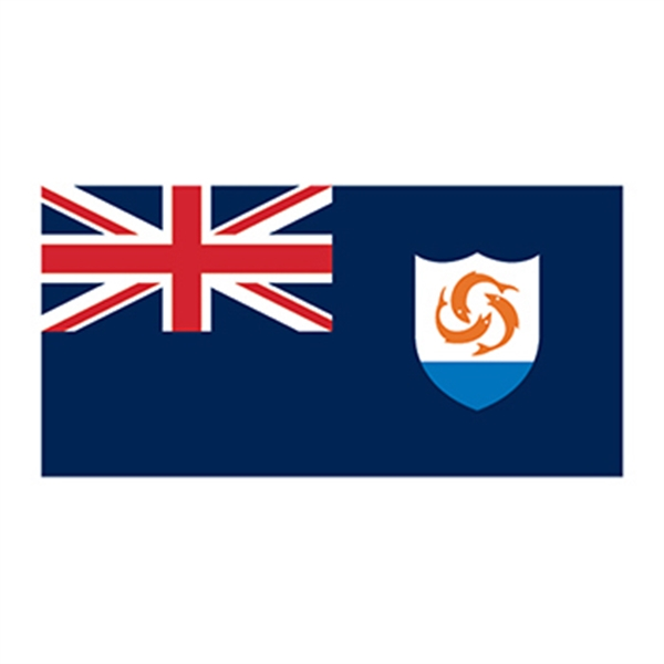 Flag of Anguilla Temporary Tattoo - Flag of Anguilla Temporary Tattoo