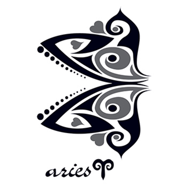 Zodiac: Aries Design Temporary Tattoo - Zodiac: Aries Design Temporary Tattoo